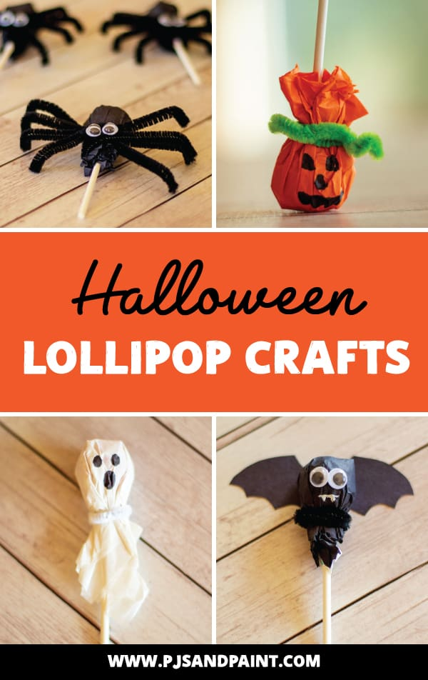 halloween lollipop crafts pinterest