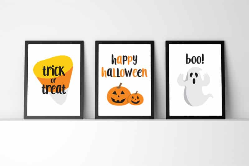 image about Happy Halloween Signs Printable known as No cost Printable Halloween Wall Artwork Do-it-yourself Halloween Decor