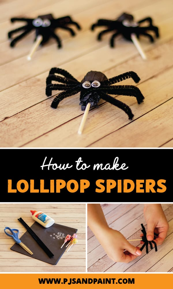 how to make lollipop spiders pinterest