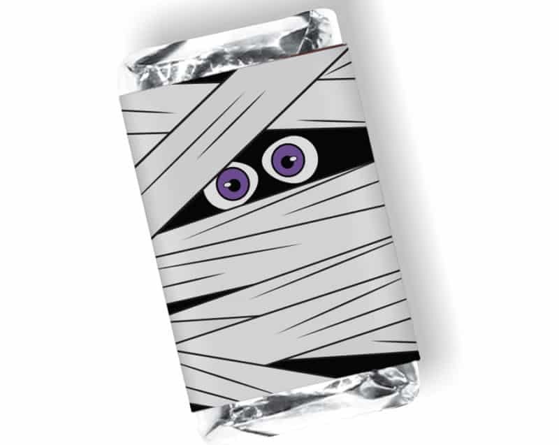 mini halloween candy bar wrapper mummy