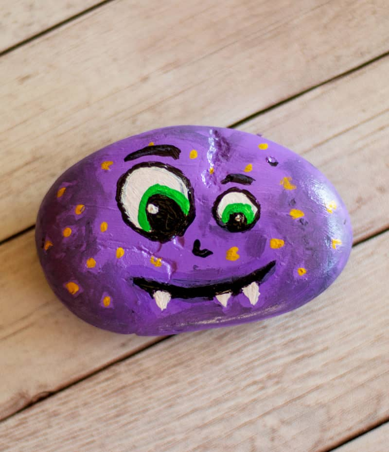 monster painted rock