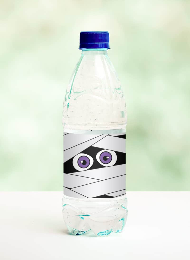 mummy water bottle label