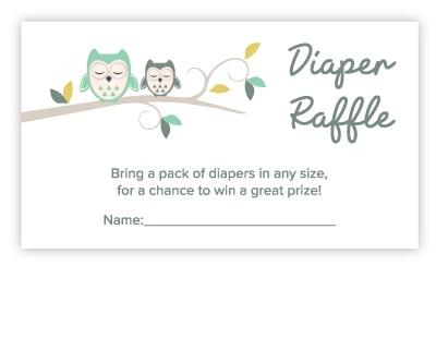 owl diaper raffle