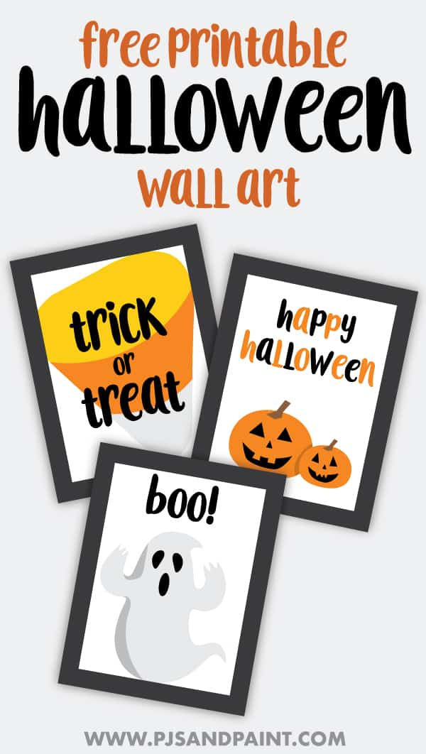 free printable halloween wall art pinterest