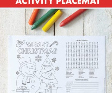 printable christmas activity placemat pinterest