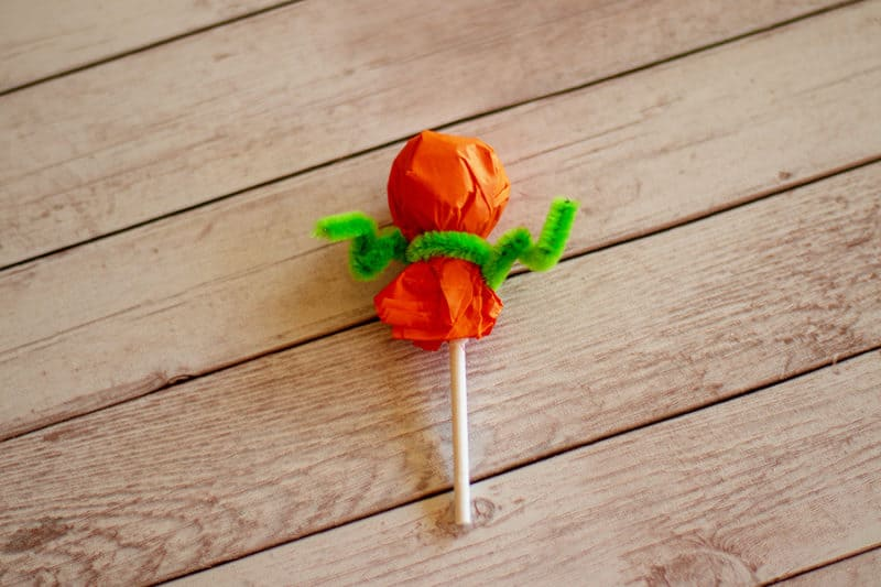 pumpkin lollipop progress