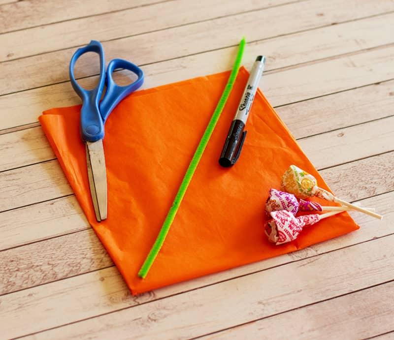 lollipop pumpkin supplies