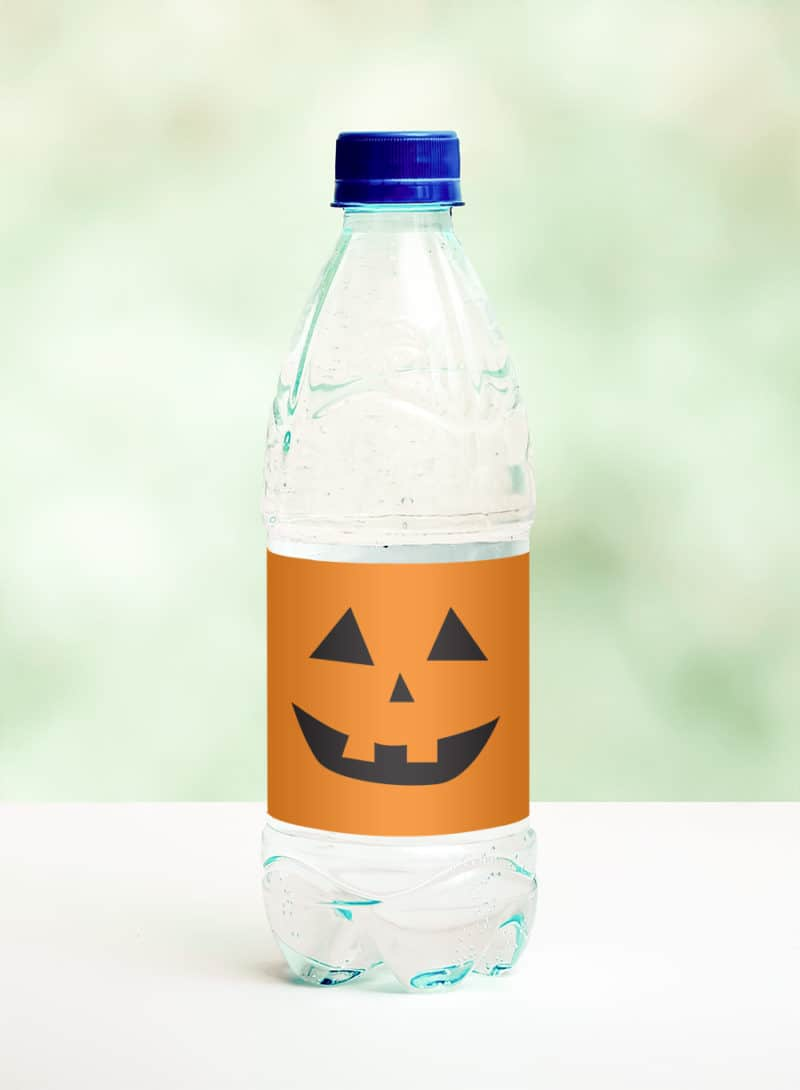 pumpkin water bottle label
