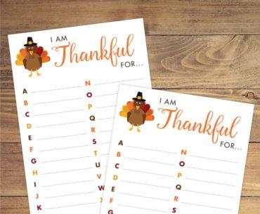 thankful abcs pinterest