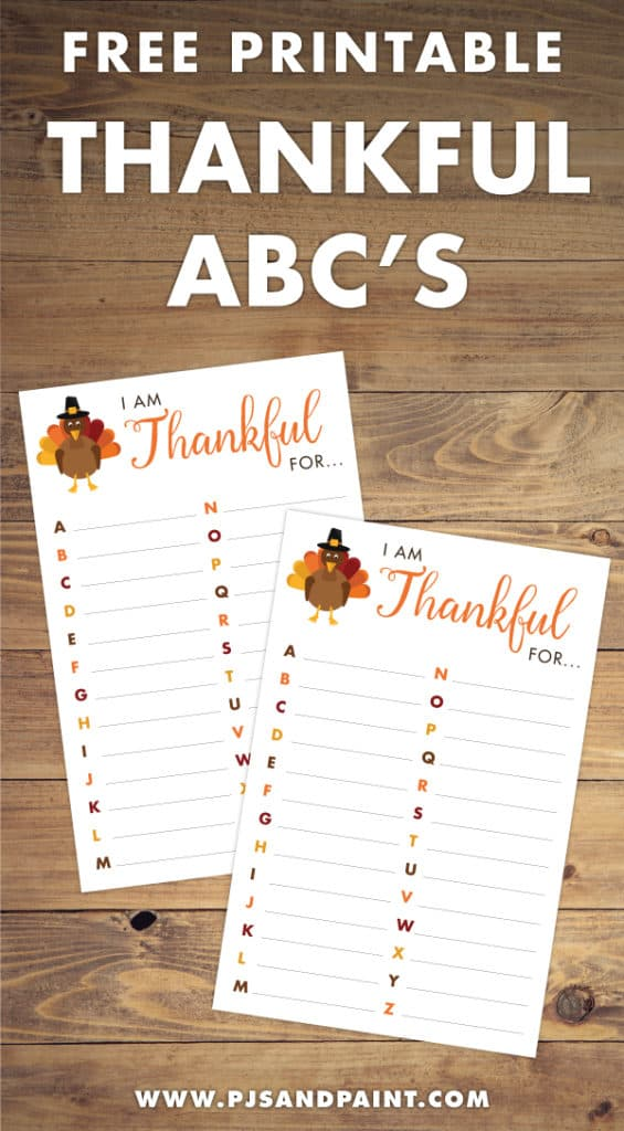 thankful abcs pinterest