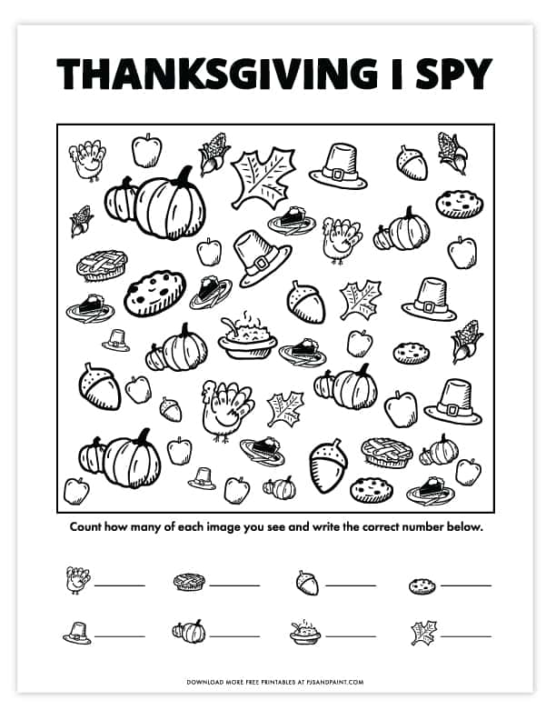 thanksgiving i spy free printable