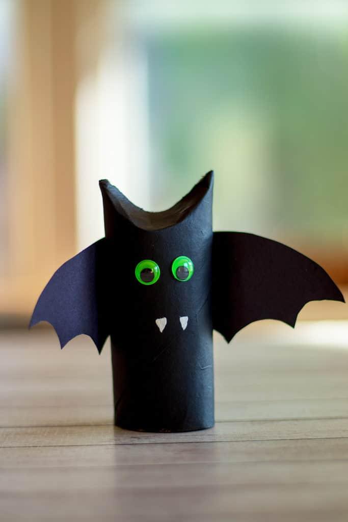Halloween Toilet Paper Roll Bat Craft Fun Crafts for Kids