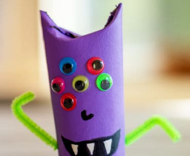 completed paper roll monster