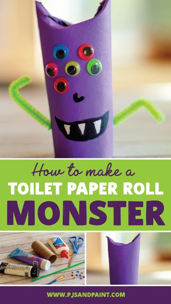 toilet paper roll monster pinterest