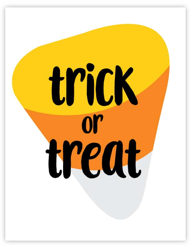 trick or treat wall art
