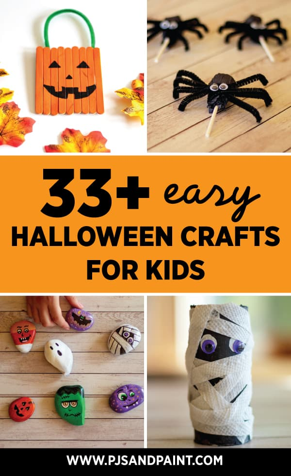 33 easy halloween crafts for kids pinterest