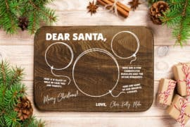 custom dear santa tray