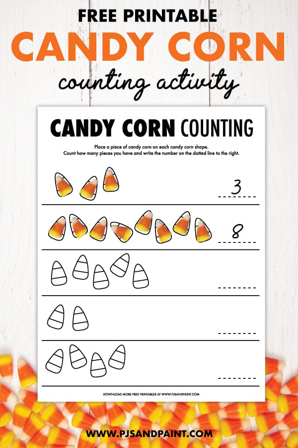 candy corn counting pinterest