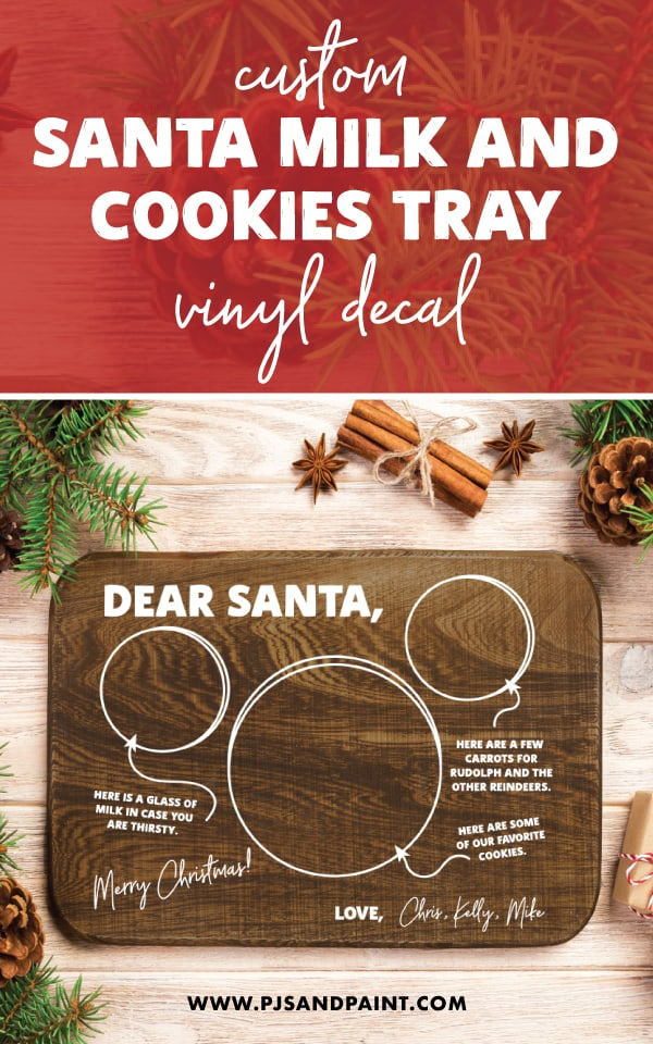 santa milk and cookies tray pinterest