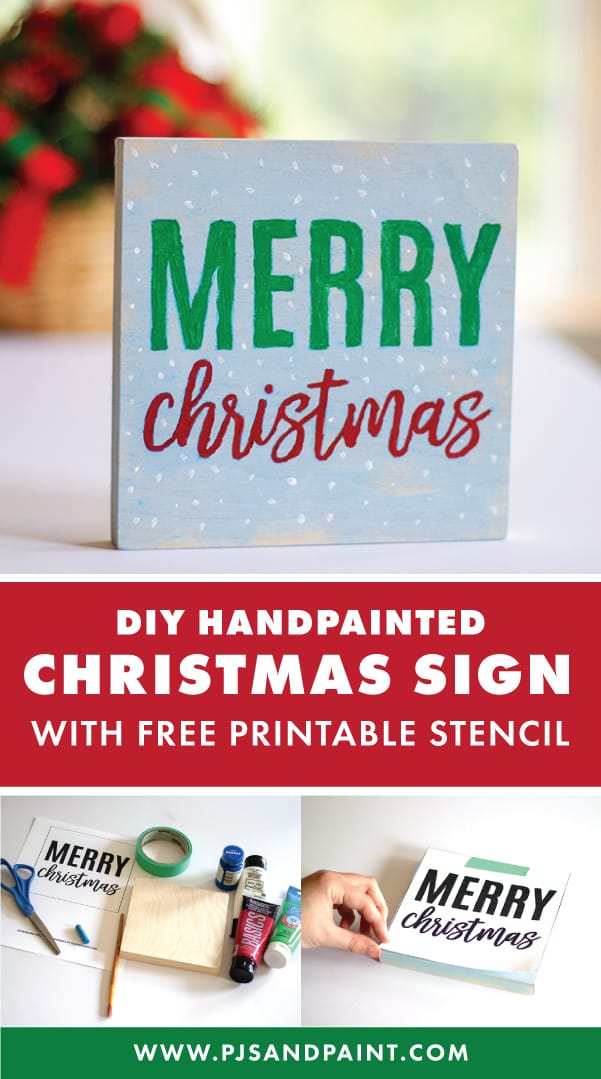 diy handpainted christmas sign pinterest