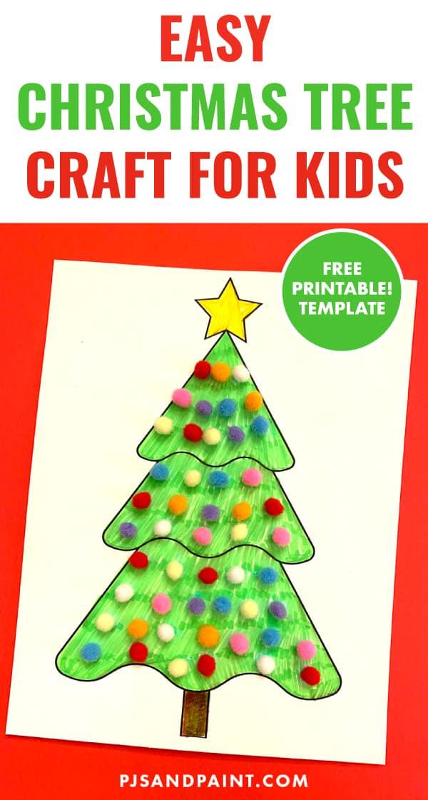 easy christmas tree craft pinterest