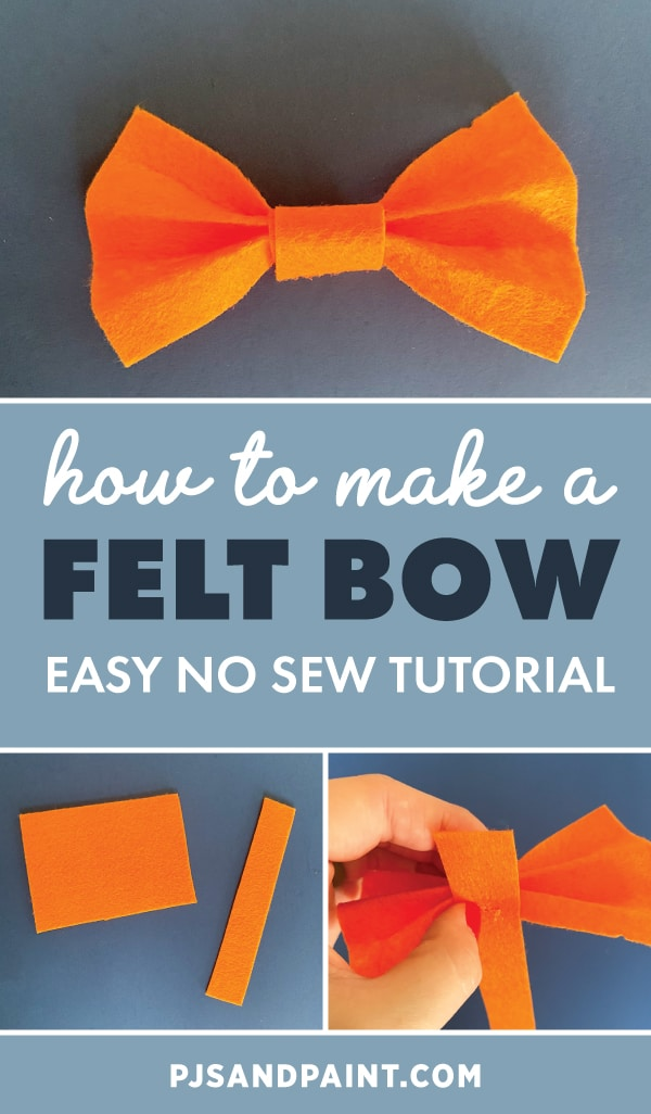 felt bow tutorial pinterest