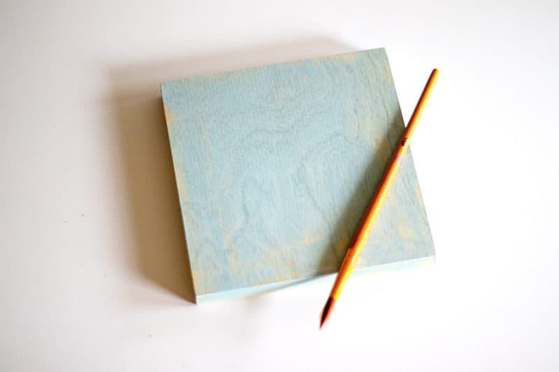 painted block of wood