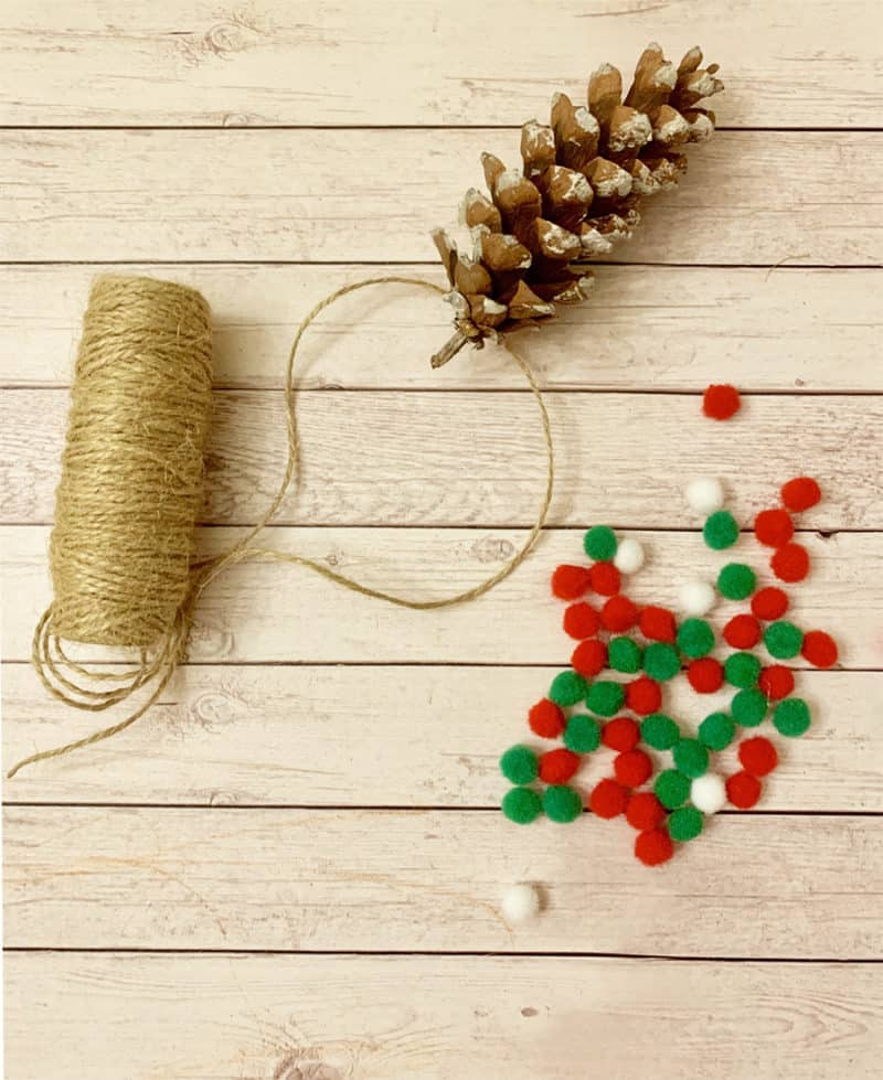 pinecone ornament supplies