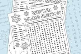 winter word search pinterest