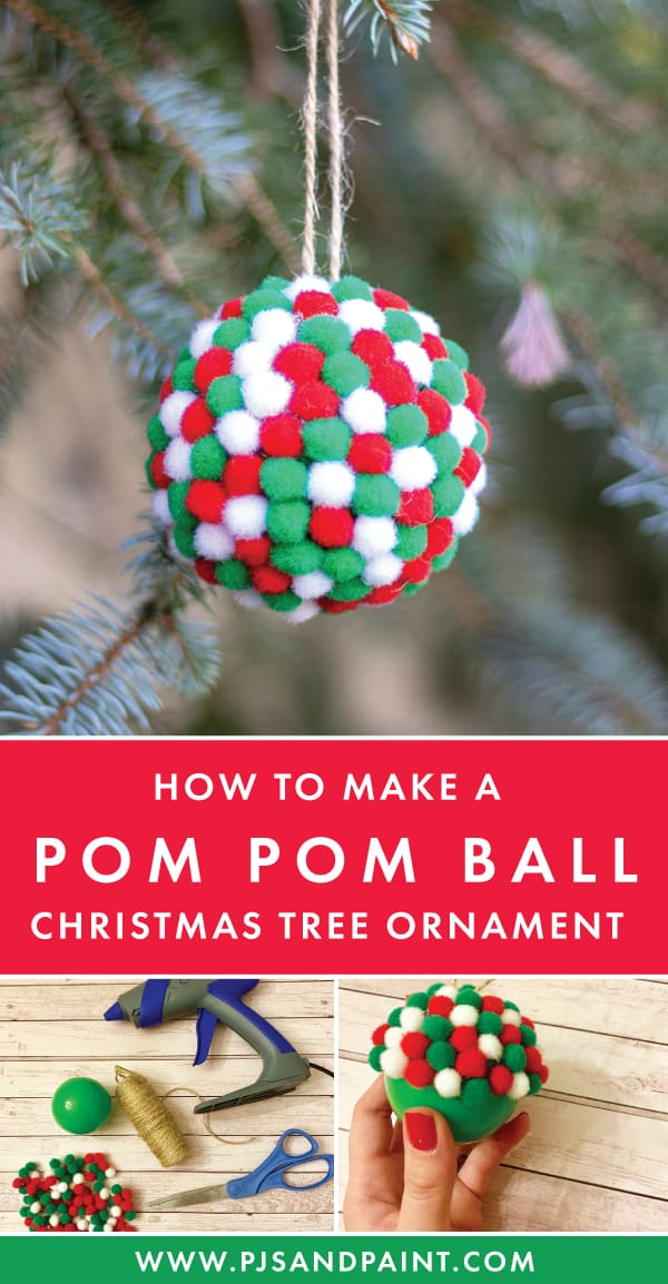 pom pom ball ornament pinterest