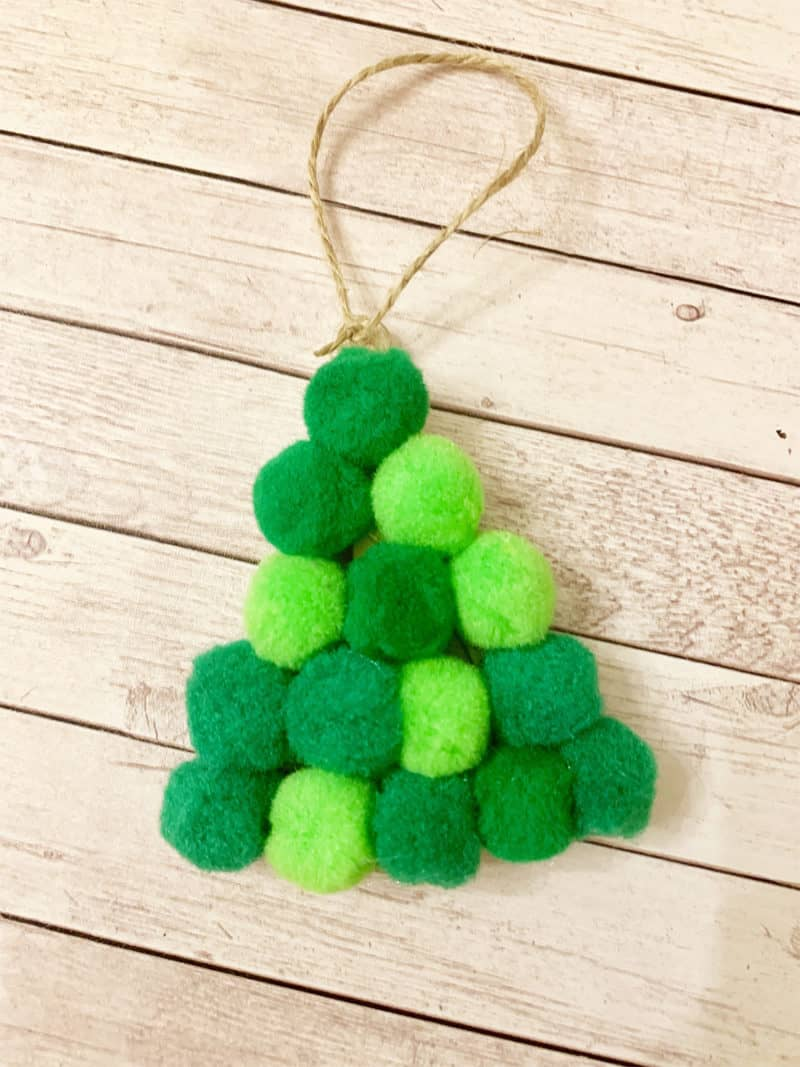 pom pom tree ornament