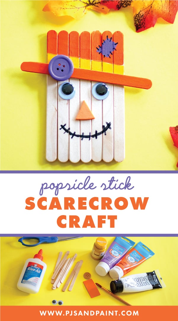 popsicle stick scarecrow craft pinterest
