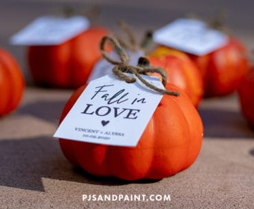fall in love pumpkin tags