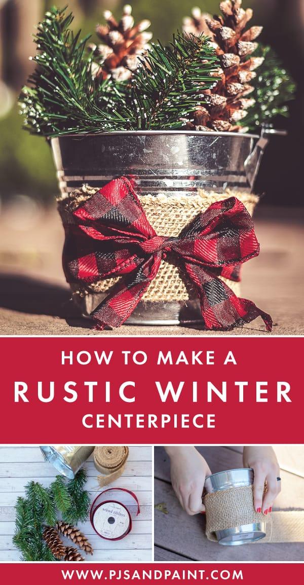 rustic winter centerpiece pinterest