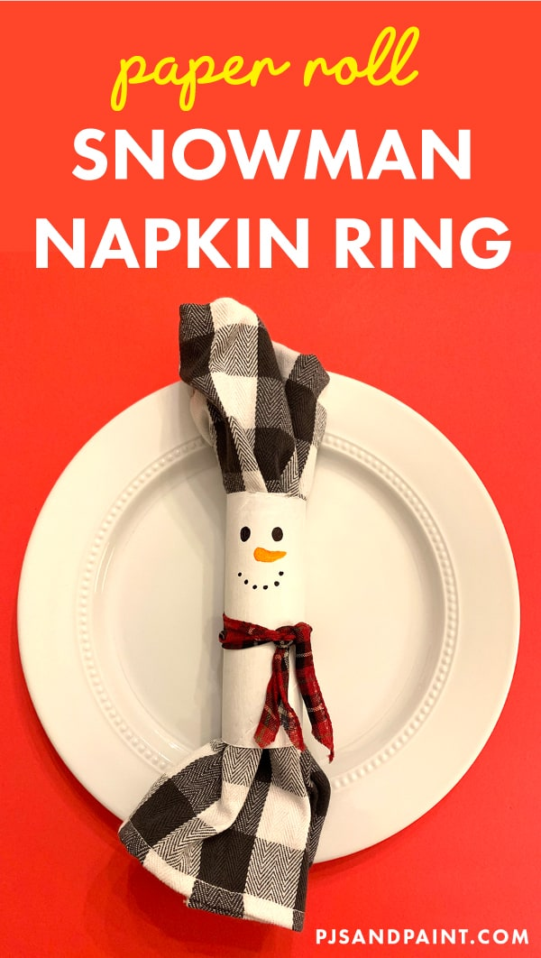 Diy Snowman Napkin Ring Toilet Paper Roll Snowman Craft