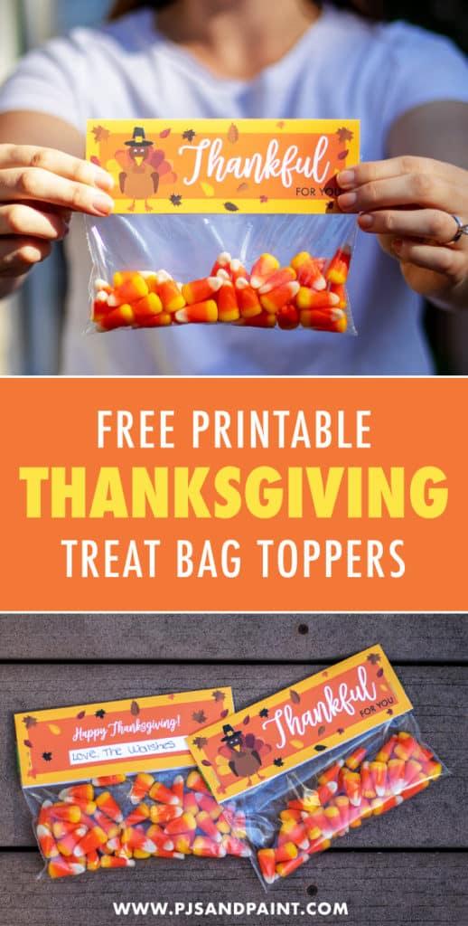 thanksgiving bag toppers pinterest