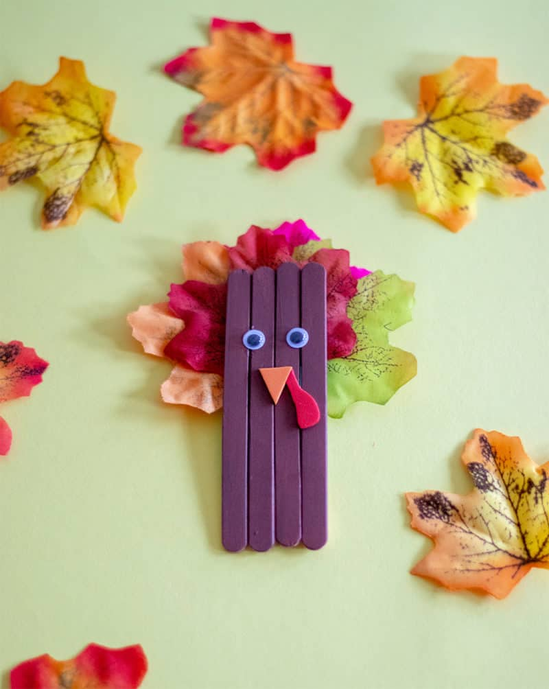 turkey popsicle stick