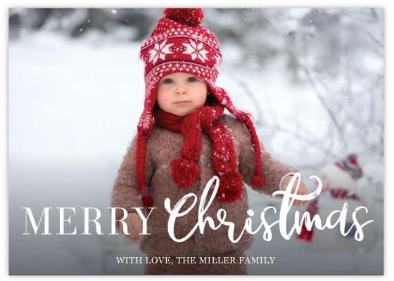 christmas card template 2 sample