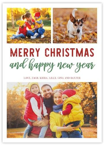 christmas card template 3 sample