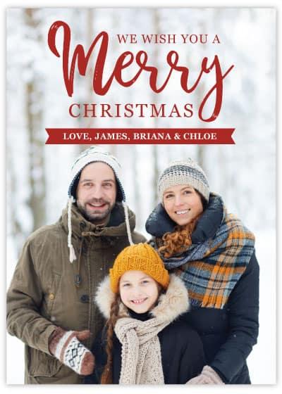 christmas card template 4 sample