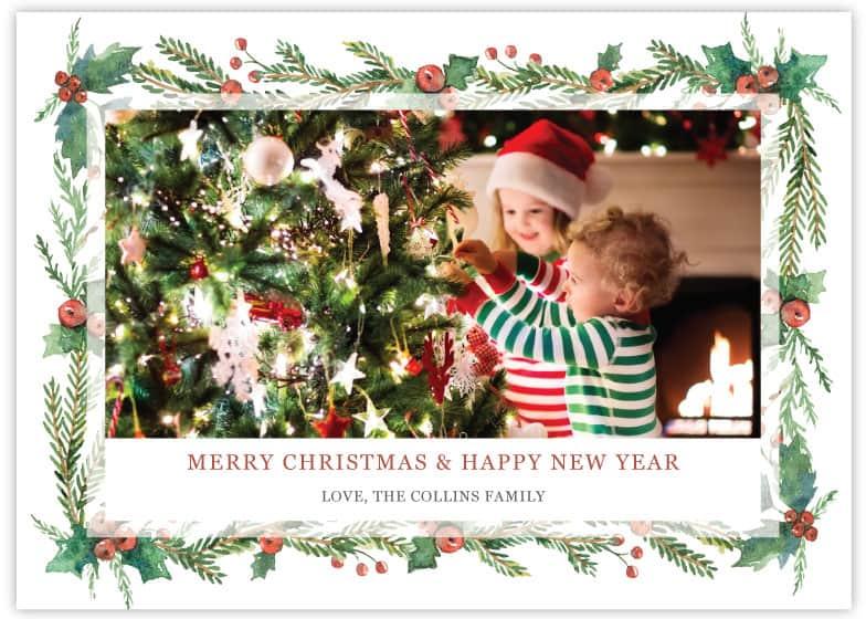 christmas card template 5 sample