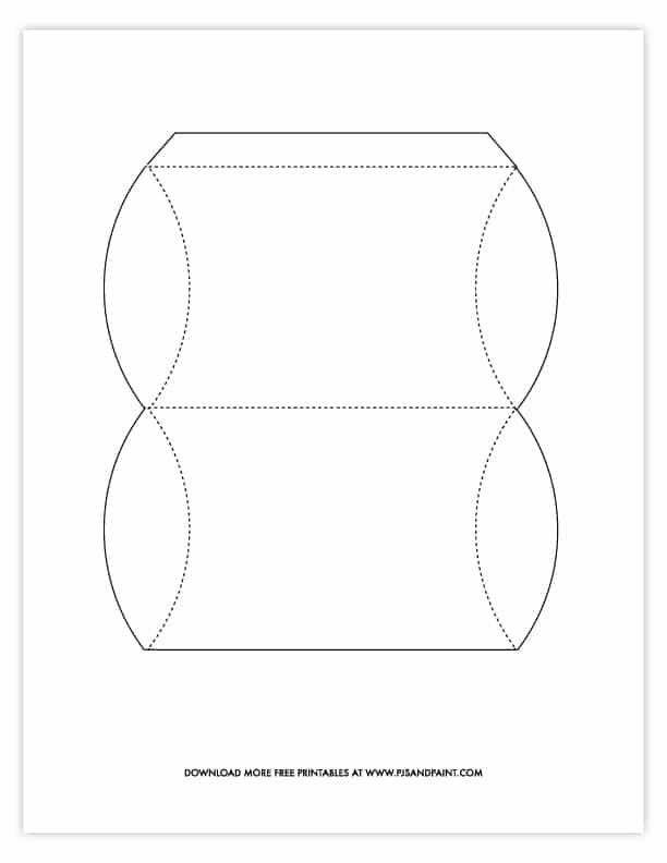 blank pillow box template