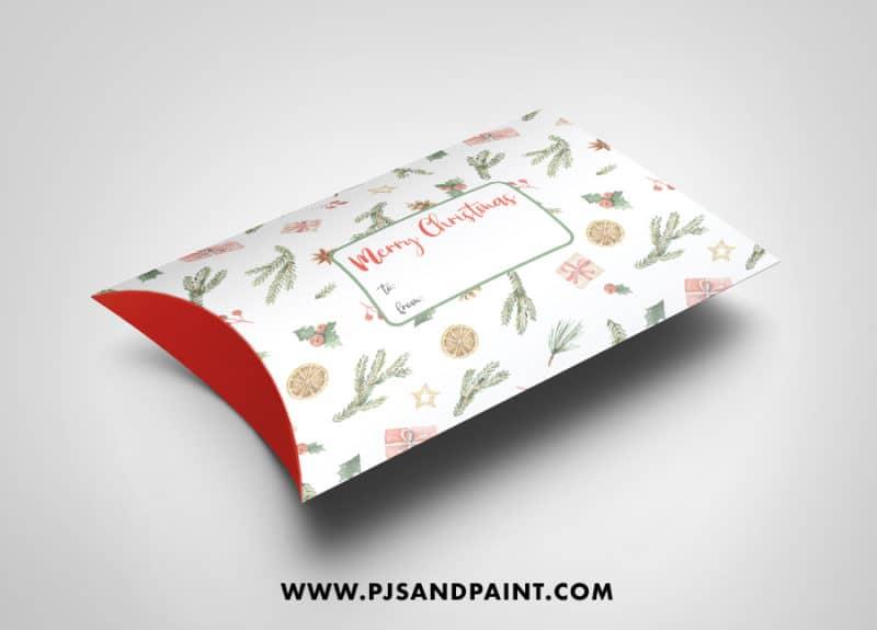 christmas pillow box mockup