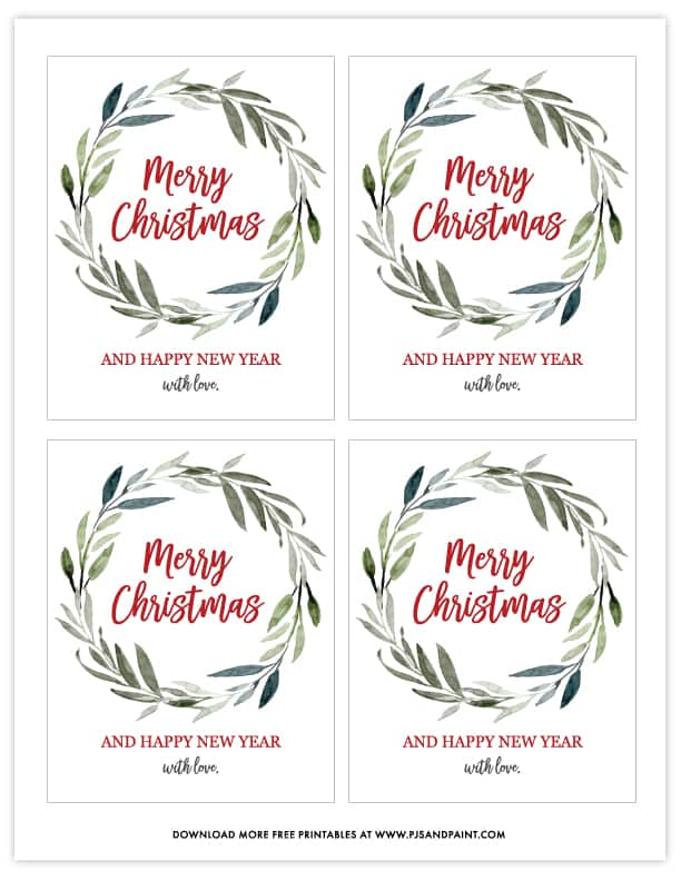 merry christmas wine bottle labels