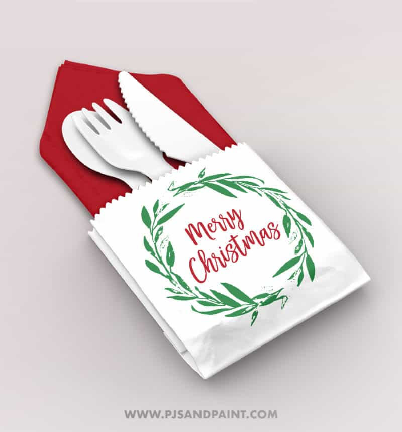 christmas utensil holder