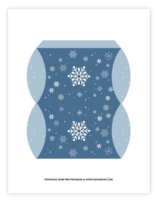 snowflake pillow box template