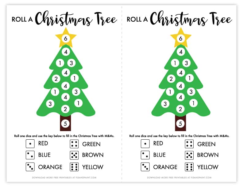 mockup roll a christmas tree game