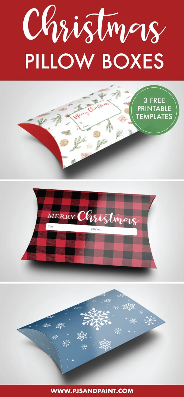 printable pillow box pinterest