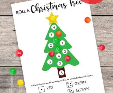 roll a christmas tree game free printable pinterest