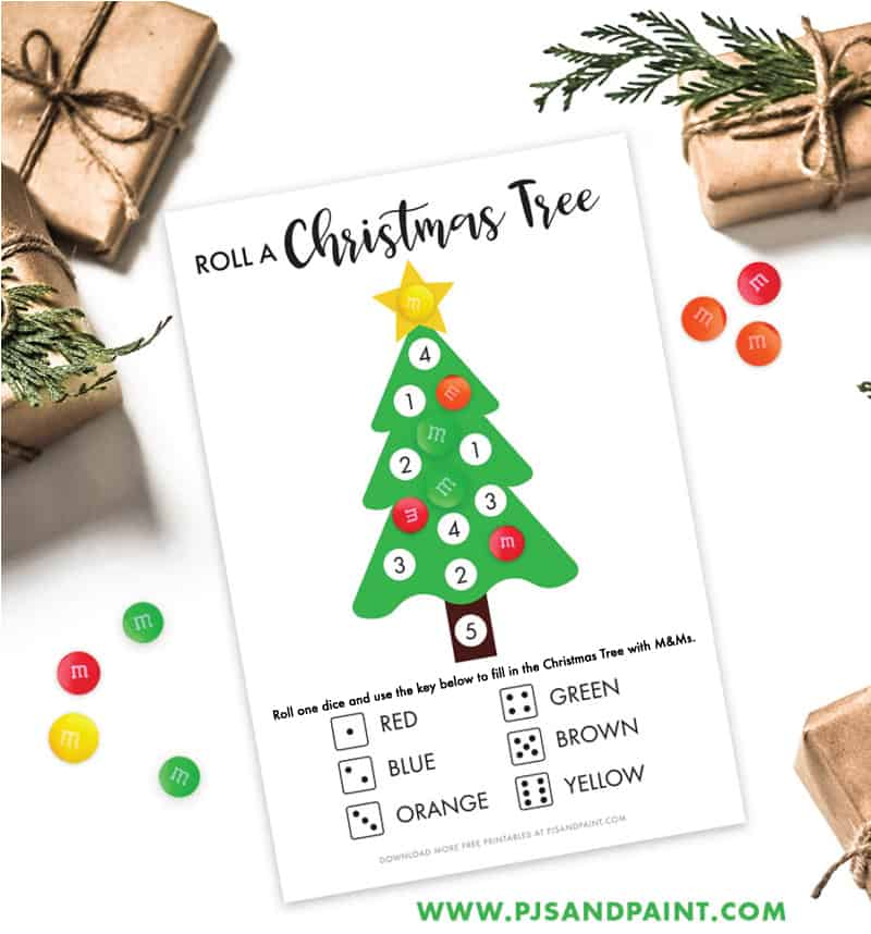 roll a christmas tree game